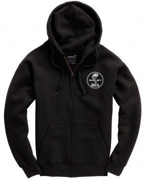 Shelby SS Stacked Mens Gents Black Zip Hoodie