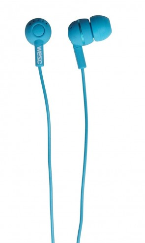 WeSC Kazoo In-Ear Headphones for iPhone, iPod and MP3 Devices - Mauritius Blue