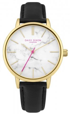Daisy Dixon Womens Nancie Black & Gold Ladies Womens Wrist Watch DD095BG