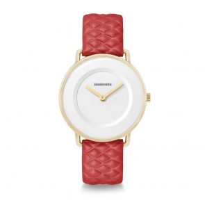 Lambretta Mia 34 Quilted Gold White Red Ladies Womens Wrist Watch 2257RED
