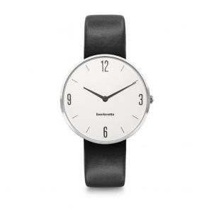 Lambretta Ladies Womens Numero 34 Leather Silver White BlackWrist Watch 2218BLA