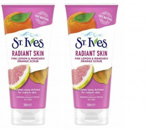 St Ives Ladies Womens Radiant Skin Pink Lemon, Mandarin Orange Scrub 150ml