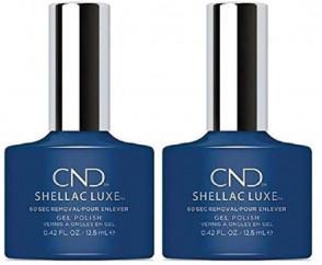 CND Shellac Luxe Ladies Womens Nail Polish Varnish Winter Nights 2 Pack