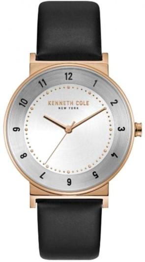Kenneth Cole Black & Gold  Ladies Womens Wrist Watch KC50074003