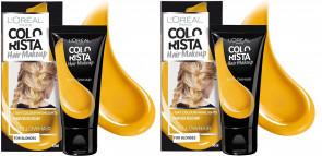 L'Oréal Paris Ladies Womens Colorista Yellow Hair Make Up 30 ml 2 Pack