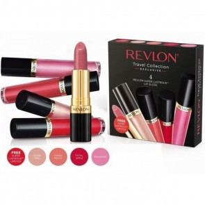 Revlon Super Lustrous Lip Gloss 4 Pack With Free Lipstick