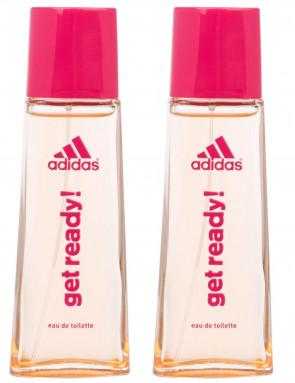 Adidas Ladies Womens Get Ready EDT 50ml Spray Fragrance 2 Pack