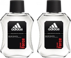 Adidas Mens Gents Team Force Male EDT 100 ml Aftershave Fragrance 2 Pack