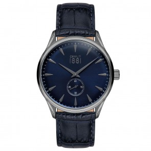 Cerruti 1881 Mens Gents Black & Blue Designer Wrist Watch CRA24006
