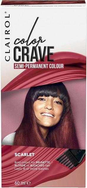 CLAIROL LADIES WOMENS COLOR CRAVE 60ML SEMI PERMANENT HAIR COLOUR SCARLET