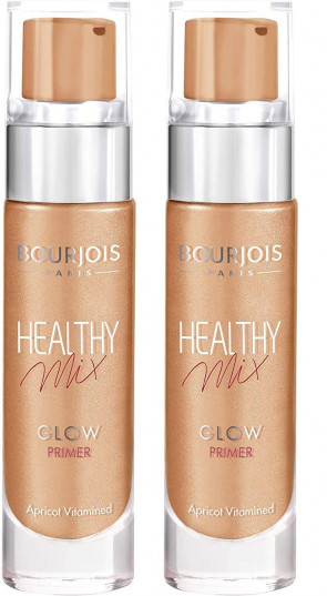 BOURJOIS LADIES WOMENS HEALTHY MIX 15ML GLOW PRIMER APRICOT  x 2 PACK