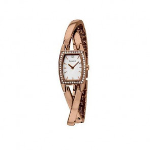 Accurist Ladies Watch White Dial Rose Gold PVD Bracelet LB1637P