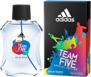 Adidas Team Five EDT Spray 100 ml Mens Gents Fragrance Aftershave Cologne