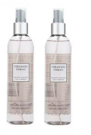 VERA WANG LADIES WOMENS EMBRACE 240ML FINE BODY MIST FRENCH LAVENDER AND TUBEROSE 2 PACK