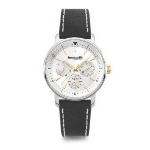 Lambretta Ladies Womens Imola 36 Silver Leather BlackWrist Watch 2210SIL3