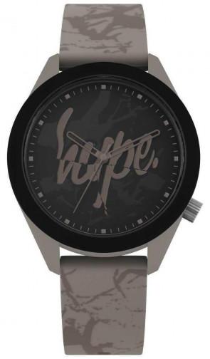Hype Mens Gents Black & Grey Cracked Marble Wrist Watch HYG005BR