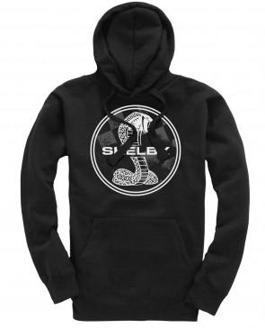 Shelby Supersnake Badge Mens Gents Black Hoodie
