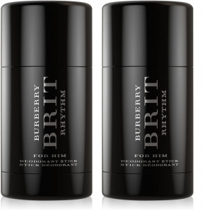Burberry Brit Rhythm for Him Mens Gents 75g Deodorant Stick 2 Pack