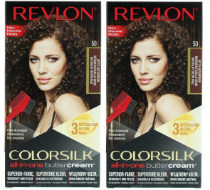 Revlon Ladies Womens Colorsilk Buttercream Medium Natural Brown Hair Colour 2 Pack