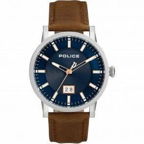 Police Mens Gents Quartz Collin Brown Wrist Watch 15404JS/03