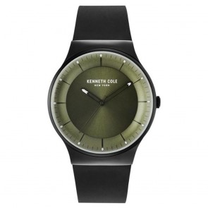 Kenneth Cole Black & Green Mens Gents Wrist Watch KC50584004