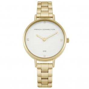 French Connection Gold & Cream Ladies Womens Wrist Watch FC1319GM