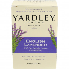 YARDLEY LADIES WOMENS 120G SOAP ENGLISH LAVENDER BOXED 4 PACK