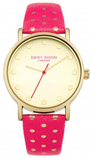 Daisy Dixon Womens Candice Wrist Watch Pink Strap Gold Face DD022OG