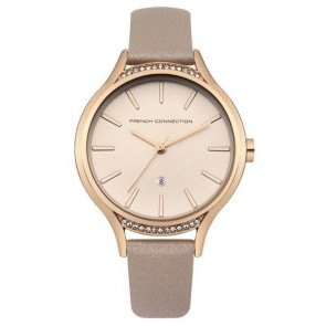French Connection Womens Ladies Wrist Watch Pink Strap FC1292CRG