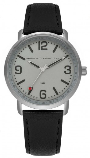 FCUK French Connection Mens Gents Wrist Watch Black Strap FC1312B