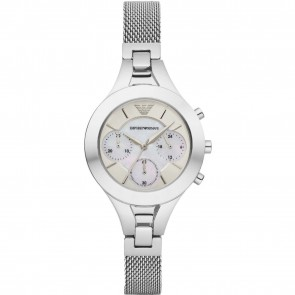 Emporio Armani Womens Ladies Chronograph Wrist Watch Stainless Steel AR7389