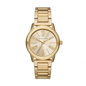 Michael Kors Hartman Womens Ladies Watch Gold Stainless Steel Bracelet Gold Dial MK3490