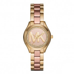 Michael Kors MK3650 Mini Slim Runway Ladies Watch Two-Tone SS Strap Rose Dial