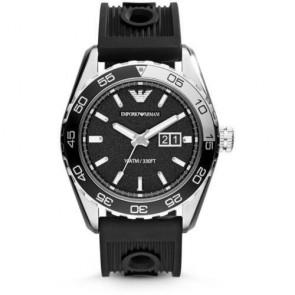 Emporio Armani Sportivo Men's Watch Black Silicone Strap Black Dial AR6044
