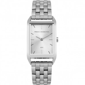 French Connection Womens Ladies Wrist Watch Silver Face FC1296SM