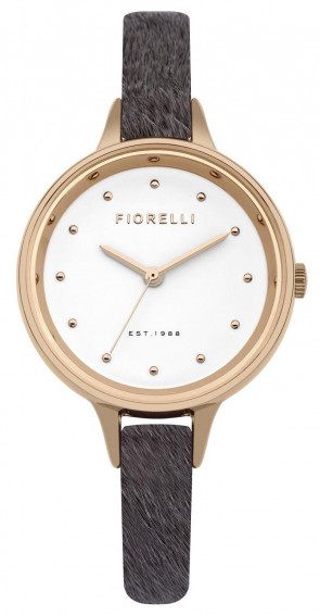 Fiorelli Ladies Womens Wrist  Watch White Dial Grey Leather Strap FO026ERG
