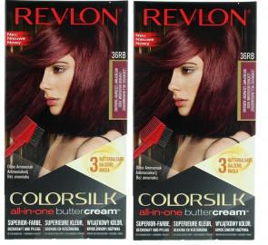 Revlon Ladies Womens Luxurious Colorsilk Buttercream Vivid Colors Red Hair Colour 2 PACK