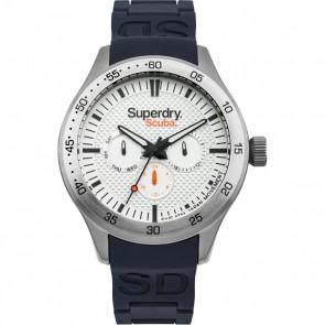 Superdry Mens Gents Blue & Silver Wrist Watch SYG210U