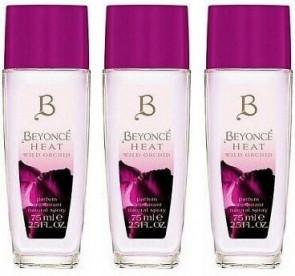 Beyonce Ladies Womens Heat Wild Orchid 75ml Parfum Deodorant Spray 3 Pack