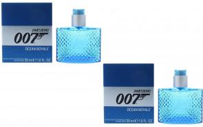 James Bond Mens Gents 007 Ocean Royale 30ml EDT Aftershave Fragrance 2 Pack