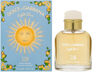 Dolce & Gabbana Womens Light Blue Pour Homme Sun 75ml EDT Perfume Fragrance