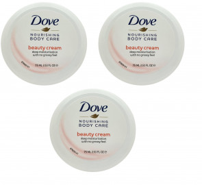 Dove Ladies Womens 75ml Nourishing Body Care 3 Pack