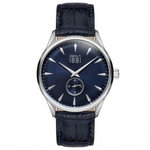 Cerruti 1881 Mens Gents Black & Blue Designer Wrist Watch CRA24004