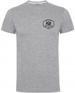 Quarter Mile QM Emblem Mens Gents Grey T-Shirt