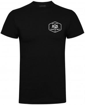 Quarter Mile Emblem Mens Gents Black T-Shirt