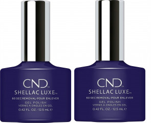 CND SHELLAC LUXE Ladies Womens Nail Polish Varnish Eternal Midnight 2 Pack