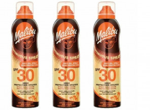 Malibu Continuous Dry Oil Spray with SPF30 3 PK