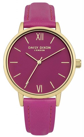 Daisy Dixon Tara Ladies Womens Wrist Watch Gold Dial  Pink Face DD029P
