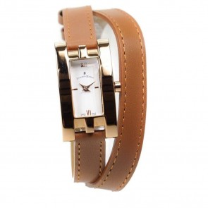 Jacques Du Manoir Ladies Wrist Watch Tan Rose Gold