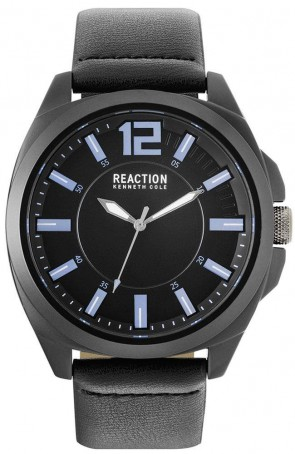 Kenneth Cole Reaction Black & Blue Mens Gents Wrist Watch RK50344005